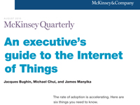 An executive's guide to the Internet of Things