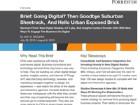 Going Digital? Then Goodbye Suburban Sheetrock, And Hello Urban Exposed Brick